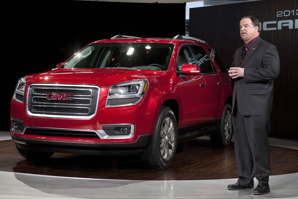 GMC U.S. Marketing Vice President Tony DiSalle unveils the 2013 GMC Acadia at the Chicago Auto...
