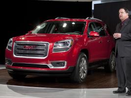 GMC U.S. Marketing Vice President Tony DiSalle unveils the 2013 GMC Acadia at the Chicago Auto...
