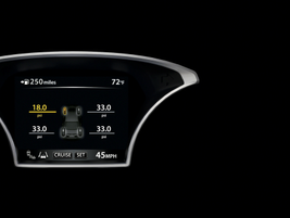 Tire pressure alerts are a feature on the new Altima.