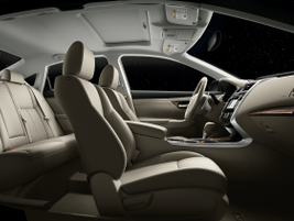 The Altima's interior is available in leather.