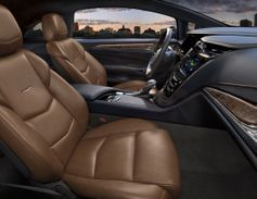 Inside, the Cadillac ELR is trimmed in leather.