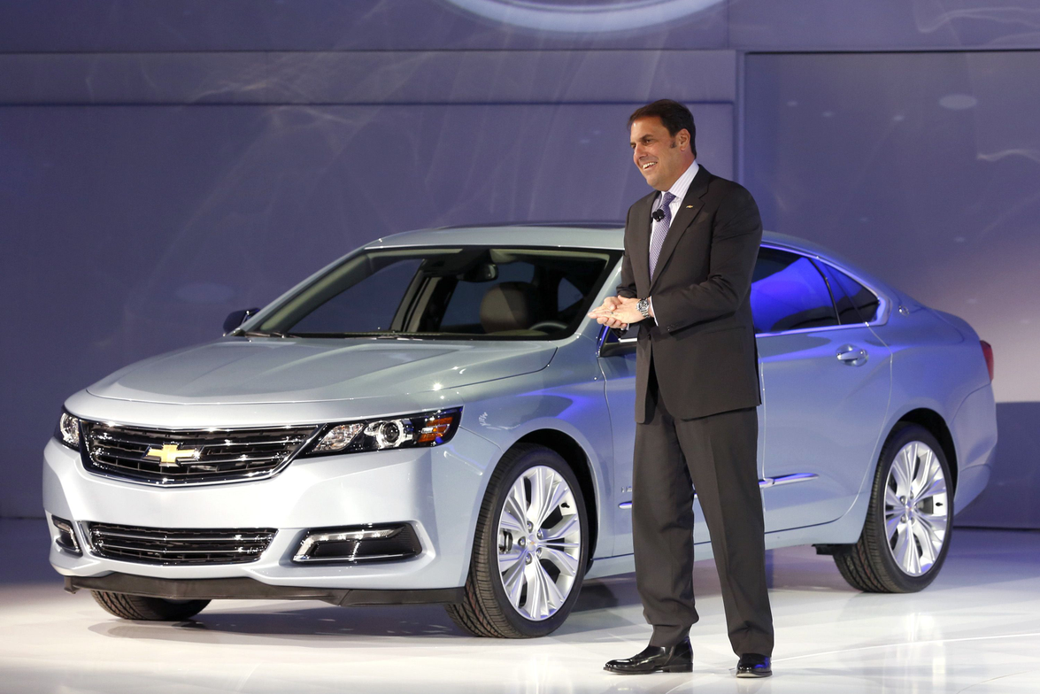 GM's Mark Reuss introduces the 2014-MY Impala at the New York Auto Show.