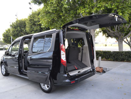 "The Transit Connect Wagon is designed as a ""spacious people mover"" with a liftgate, according to..."