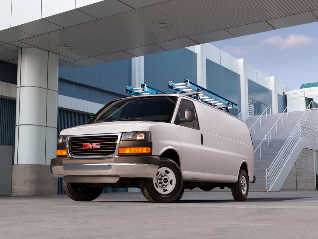 The GMC Savana cargo van includes an optional crew option so you can seat up to five. Behind the...