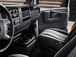 This shows the interior of the GMC Savana 2500 cargo van. Additional interior options and trim...