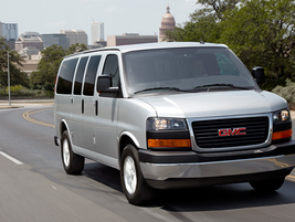 The passenger version of the GMC Savana 1500 seats up to eight passengers, while the 3500...