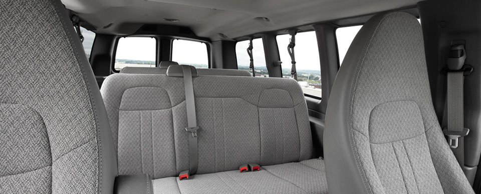 This shows the 8-seat configuration for the 1500 passenger van.