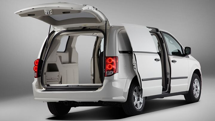 Dual sliding doors and rear entry give three access points to help with loading and unloading.