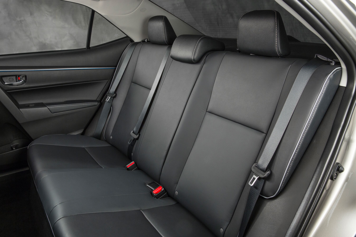The 2014 LE Eco model's back seats. Softex material for seating is optional with the choice of a...