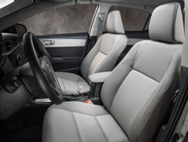 The front seats on the 2014 Corolla LE Eco grade. Photo courtesy Toyota.