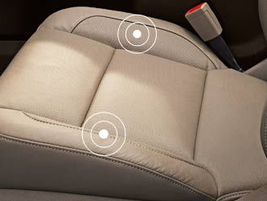 The safety alert seat helps hearing-impaired drivers by seat vibrations to inform the driver of...