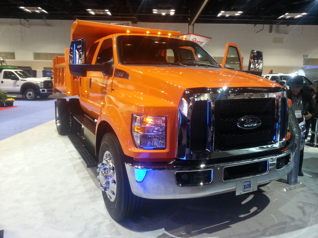 Ford showed this F-750 configured as a dump truck.
