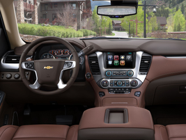 The 2015 Chevrolet Suburban will offer an eight-inch touchscreen and Chevy MyLink. Photo...