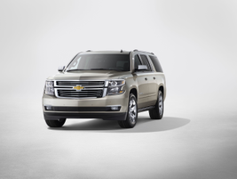 The 2015 Chevrolet Suburban and Tahoe each come with a 5.3L EcoTec3 V-8 engine. Photo courtesy GM.