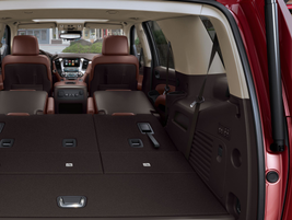 The Tahoe (pictured) and Suburban have fold-flat second- and third-row seats. Photo courtesy GM.