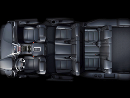 Vehicle seating footprint with three rows