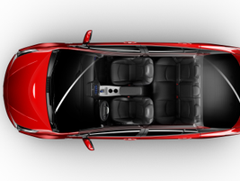 This overhead shot of the 2016 Prius shows the vehicle's seating configuration.