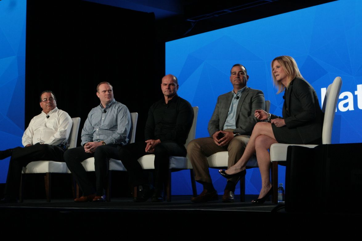 A panel on operational efficiency includedfleet managers from Southern California Edison, Flex...
