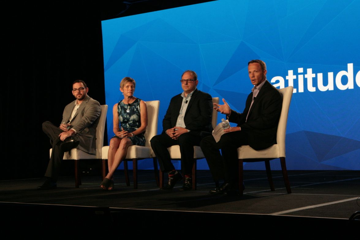 Jay Jaffin (far right), Verizon Telematics CMO, moderated a panel about exploring value in your...