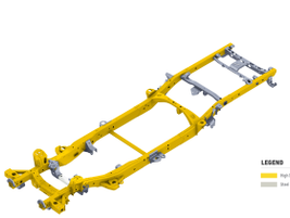 The steel frame is 88 pounds lighter than its predecessor, while offering 10% greater torsional...