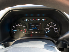The instrument panel adds a gear-selection display.
