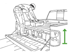 Storage units reduce the degree of reaching and stooping to retrieve items that are in the truck...