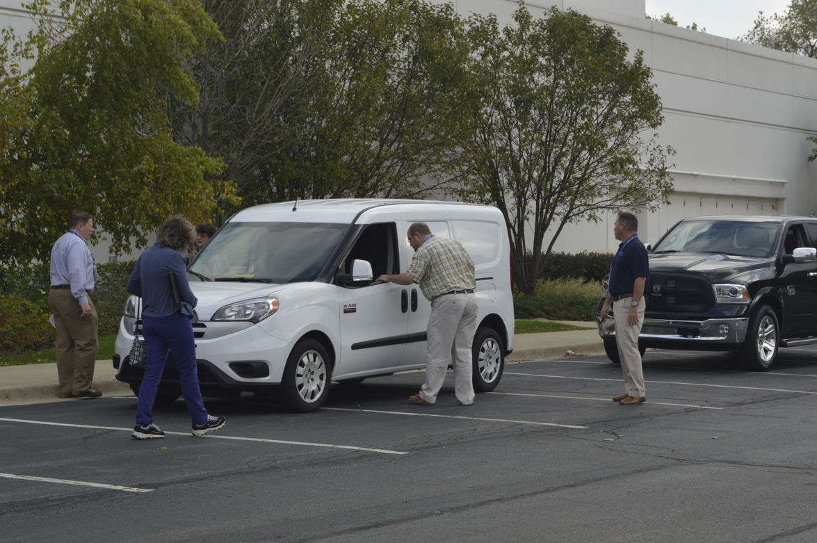 Ram Commercial gave attendees an opportunity to test a ProMaster City and the 1500 EcoDiesel pickup.