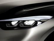The truck features duel lens-free, honeycombed headlamp projectors with prominant LED fog lamps.