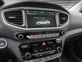 The Ioniq has enhanced connectivity features like Apple CarPlay and Android Auto, as well as...
