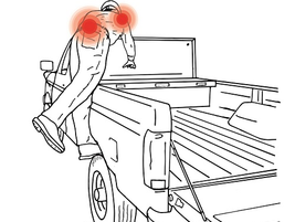 Unsafe footing increase the likelihood of low back pain and shoulder pain. Workers' compensation...
