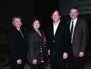 (L-R) Tom Caruso of ADESA, Linda Silverstein of Ford, Sandy Schwartz of Manheim, and Bob...