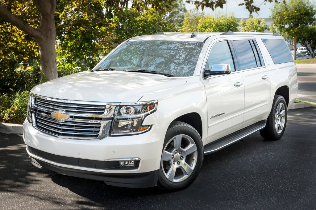 This model is the 2015 Suburban LTZ 4WD with a six-speed automatic transmission.