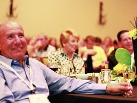 Attendees enjoy one of several prominent keynote speeches during the AFLA conference.