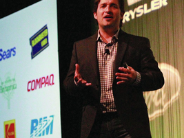Businessman and author Josh Linkner was one of the keynote speakers at the conference.