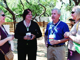 Mary Sticha (second from left), SVP - commercial programs at GE Capital Fleet Services, takes a...