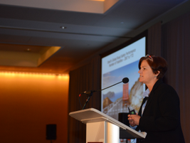 Karen Spring, road transportation manager, Shell, was the speaker for the closing keynote on how...