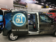Adrian Steel showed a ProMaster City prototype at its Work Truck Show booth.