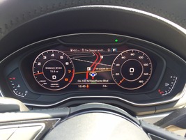 The optional Technology Package includes Virtual Cockpit that allows a driver to display...
