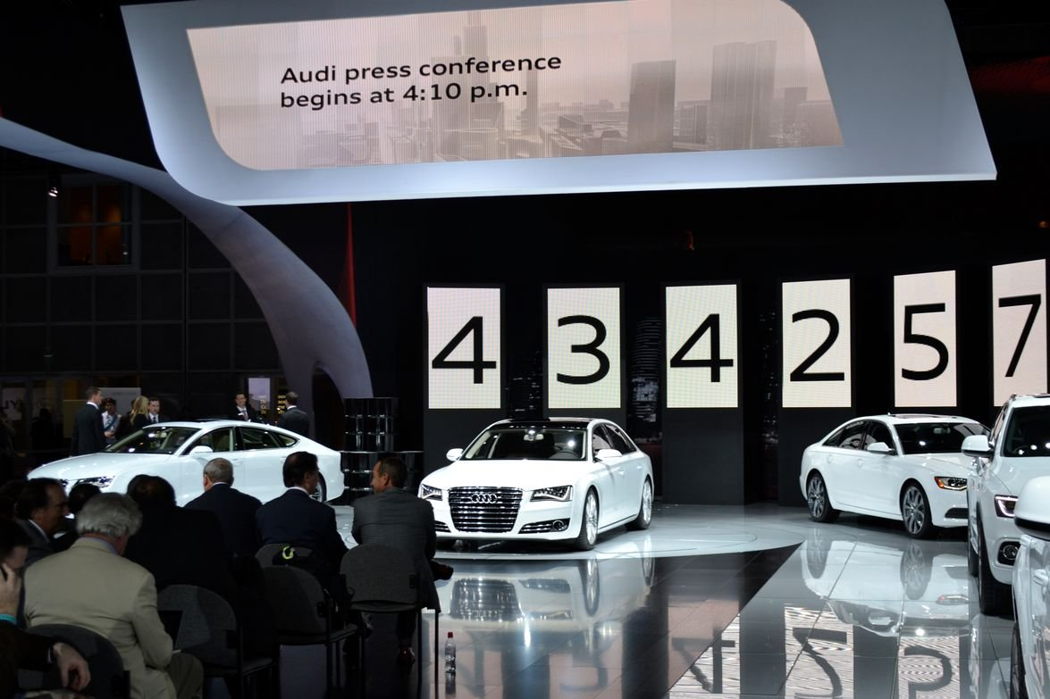 Audi debuted four TDI clean diesel models, including versions of its A8, A7, A6, and Q5.