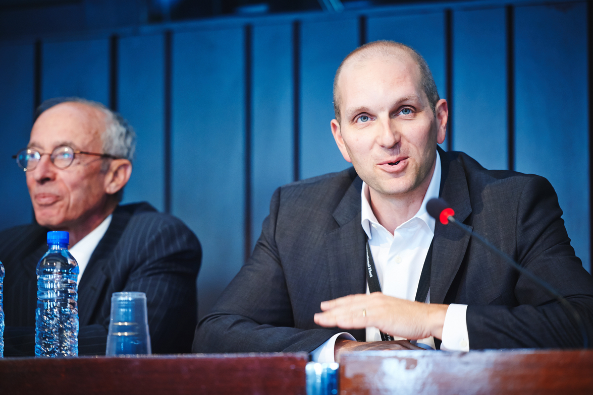 Chris Conroy (right), executive vice president, global operations, ARI, took part in a panel...