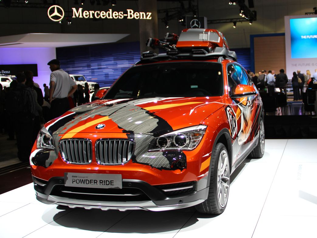 """Another BMW model at the show was its X1 Concept K2 """"Power Ride."""" The vehicle is designed for..."""