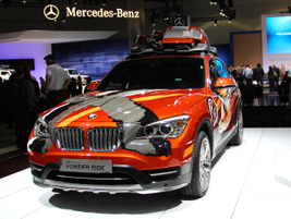 "Another BMW model at the show was its X1 Concept K2 ""Power Ride."" The vehicle is designed for..."