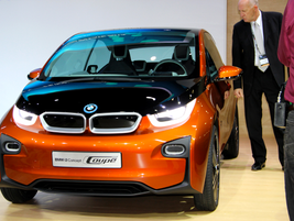BMW also showed its new i3 Concept Coupe at the event. BMW said the electric drive module in...