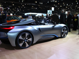 BMW showed its new plug-in hybrid i8 Spyder concept at the show.
