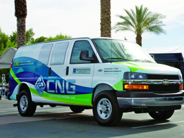 GM showcased its fully integrated, fuel-efficient compressed natural gas (CNG) and liquefied...