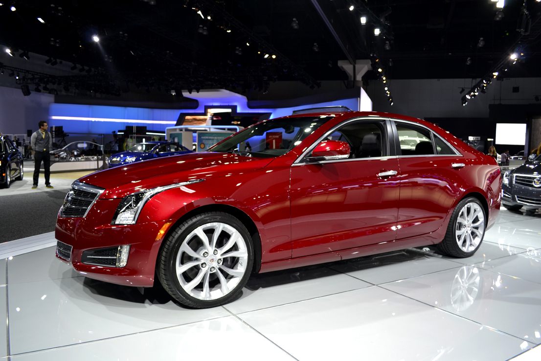 Another new Cadillac model at the show was the automaker's ATS sedan.