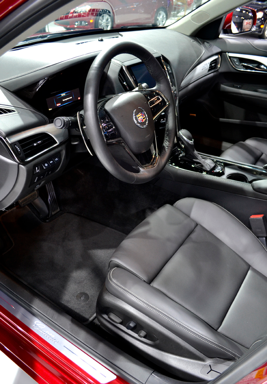 The Cadillac ATS features the brand's new CUE infotainment system. Seating options include...