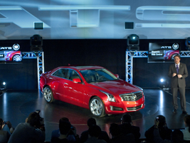 General Motors' North America President Mark Reuss introduces the 2013 Cadillac ATS compact...