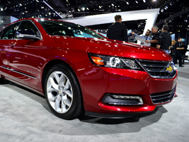 Another new GM vehicle at the show was its 2014-MY Chevrolet Impala.