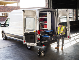 The DECKED in-vehicle storage system is customizable and features two full bed-length drawers....